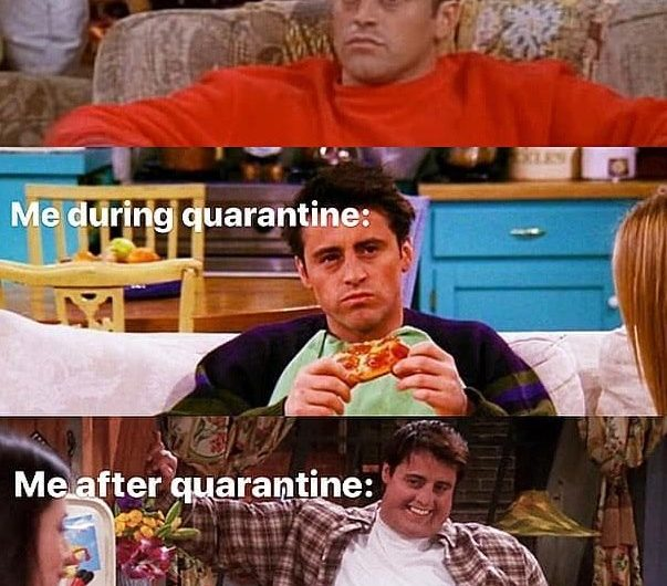 Top quarantine memes with Friends